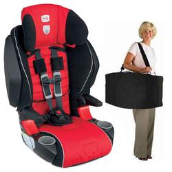 Britax E9LE32XKIT1 - Frontier 85 SICT Combination Harness-2-Booster in Cardinal with a car seat Travel Bag