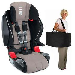 Britax E9LE32YKIT1 - Frontier 85 SICT Combination Harness-2-Booster in Portabello with a car seat Travel Bag