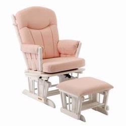 Shermag 37908CB.15.1015 Glider rocker and Pink Gingham  - White Frame
