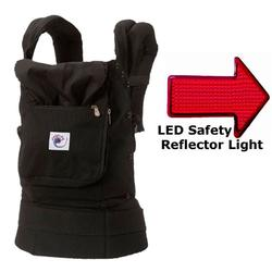 Ergo Baby BCC001, Options Baby Carrier - Black (no cover included) with LED Safety Reflector Light