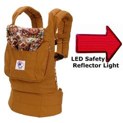 Ergo Baby BCO223PF Organic Desert Bloom Baby Carrier with Nautilus Print Lining & LED Safety Reflector Light