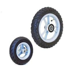 Convaid, 903083, 8in x 2in Front Ribbed, 12.5in Rear Pneumatic Knobby Tire (4 Wheel Package)