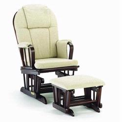 Shermag 37913CB.47.0357 Glider rocker and Ottoman - Oatmeal W Cherry Frame