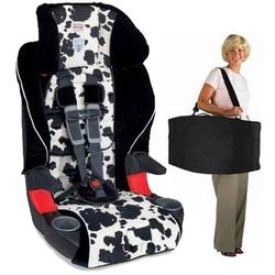 Britax E9LC21Q, Frontier 85 Combination Harness-2-Booster Seat in Cowmooflage with a car seat Travel Bag