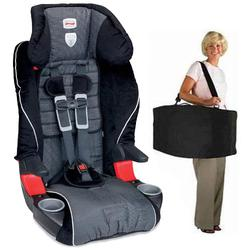 Britax E9LC21A, Frontier 85 Combination Harness-2-Booster Seat in Onyx with a car seat Travel Bag