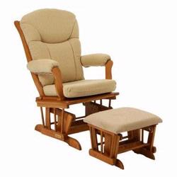 Shermag 37794CB.B9.0357 Glider rocker and Ottoman -  Oatmeal W Honey Frame