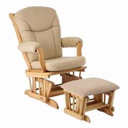 Shermag 37794CB.06.0357 Glider rocker and Ottoman Oatmeal  - Natural Frame