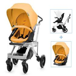 Orbit Baby G2 Color Packed Stroller in Black/Apricot