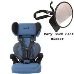 Safety 1st 22256AHD Go Hybrid Booster Car Seat in Waterloo w/ Back Seat Mirror