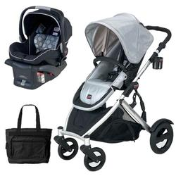 Britax U281774KIT7, B-Ready Stroller and B-Safe Infant Carrier with Diaper Bag - Blk/Silver