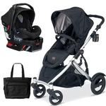 Britax U281772KIT6, B-Ready Stroller and B-Safe Infant Carrier with Diaper Bag - Blk/Blk