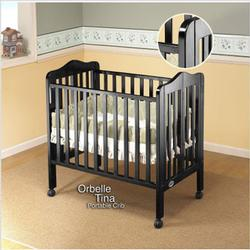Orbelle 1122BK Tina Three Level Portable Crib - Black