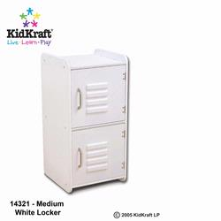 KidKraft 14321 Medium Lockers, White