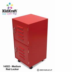KidKraft 14322 Medium Lockers, Red