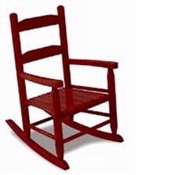 KidKraft 18122 Two-Slat Rocker, Cherry