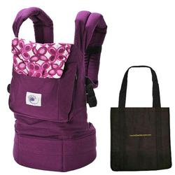 Ergo Baby BC50351KIT2, Purple Mystic Baby Carrier with a Tote Carry Bag in Black