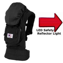 Ergo Baby BCO00101KT1, Organic Black Carrier - Solid Black Lining with LED Safety Reflector Light