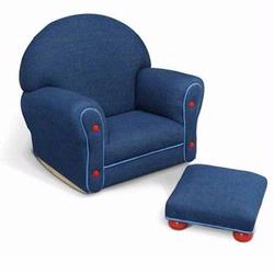 KidKraft 18621 Upholstered Rocker & Ottomon