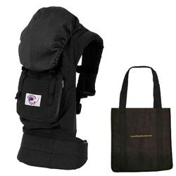 Ergo Baby BCO00101KT2, Organic Black Carrier - Solid Black Lining with a Tote Carry Bag in Black