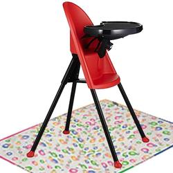 Baby Bjorn 067005USKT High Chair with Splat Mat - Red