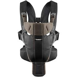 Baby Bjorn - Miracle Organic Baby Carrier with LED Safety Reflector Light - Black/Brown