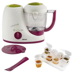 Beaba B2212, BabyCook 4 in 1 Feed Prep blender with Baby Cubes - Gipsy
