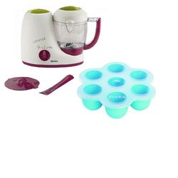 Beaba B2212, Baby Cook Set - Baby Cook and Multiportions - Blue