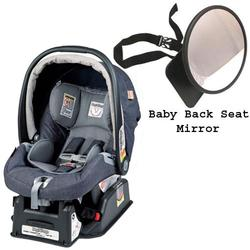 Peg Perego Primo Viaggio sip 30/30 Car Seat w/ Back Seat Mirror - Denim