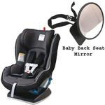 Peg Perego Primo Viaggio Convertible Car Seat w/Back Seat Mirror - Crystal Black