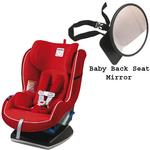 Peg Perego Primo Viaggio Convertible Car Seat w/Back Seat Mirror - Crystal Red