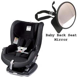 Peg Perego Primo Viaggio Convertible Car Seat w/Back Seat Mirror - Licorice