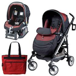 Peg Perego Switch Four Travel System with a Diaper Bag - Boheme