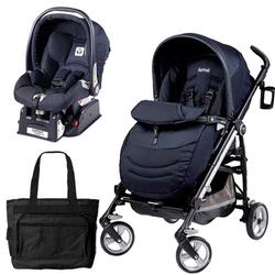 Peg Perego Switch Four Travel System with a Diaper Bag - Zaffiro Sapphire