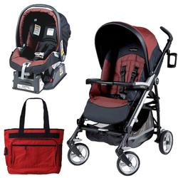 Peg Perego Pliko Four Travel System with a Diaper Bag - Boheme