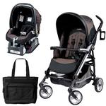 Peg Perego Pliko Four Travel System with a Diaper Bag - Newmoon