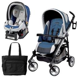 Peg Perego Pliko Four Travel System with a Diaper Bag - Regata