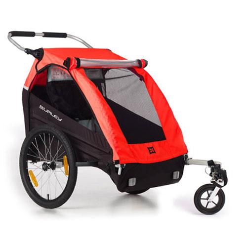 Burley 949204 Honey Bee Bicycle Trailer w stroller wheel - Red