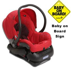 Maxi-Cosi Mico IC099INT Infant Car Seat w/Baby on Board Sign - Intense Red