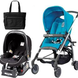 Inglesina AVIO Stroller - Primo Viaggio Travel System in Light Blue - Black