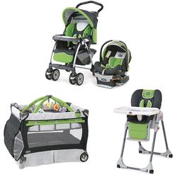 Chicco MIDORIKIT Matching Stroller System, High Chair and Play Yard Combo - Midori