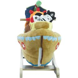 Rockabye 85034 Ahoy Doggie Pirate Ship Rocker