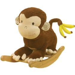 Rockabye 85035 Mocha Monkey Rocker
