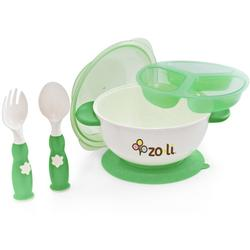Zo-li BF11SBKG01-STUCK suction bowl feeding kit Green