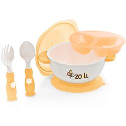 Zo-li BF11SBKO01 -STUCK suction bowl feeding kit Orange