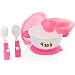 Zo-li BF11SBKP01 -STUCK suction bowl feeding kit Pink