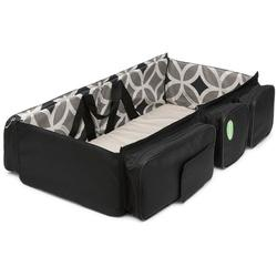 QuickSmart B10218USA 3 in 1 Diaper Bag/Travel Bassinet - Geometric Gray