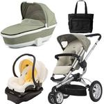 Quinny BUZ3BFYTRV1 Buzz 3 Travel System with Bassinet and Diaper Bag in  Natural Cream