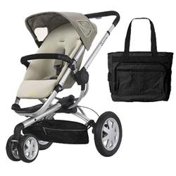Quinny CV155BFYKT1 Buzz 3 Stroller with Diaper Bag - Natural Mavis
