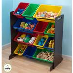 Kidkraft 15451, Sort It and Store It Bin Unit - Espresso