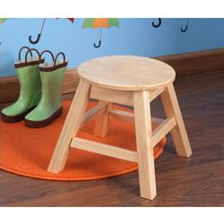 KidKraft 15212, Small Round Stool - Natural